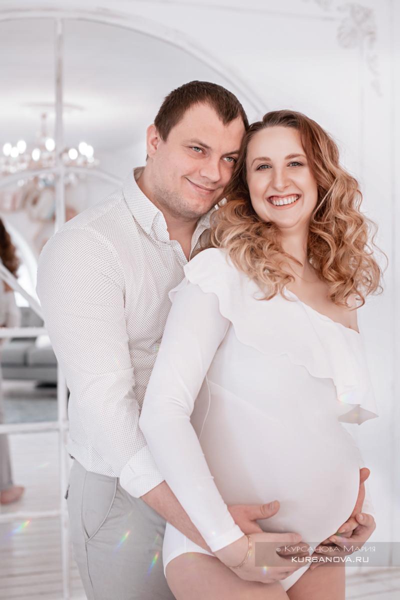 Фотосессия беременной Анастасии с мужем. Семка в студии.