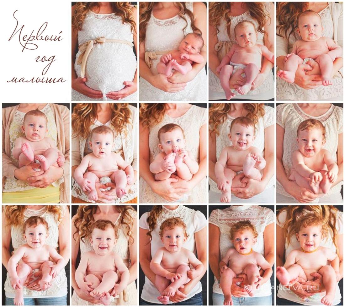 первый год малыша фото по месяцам