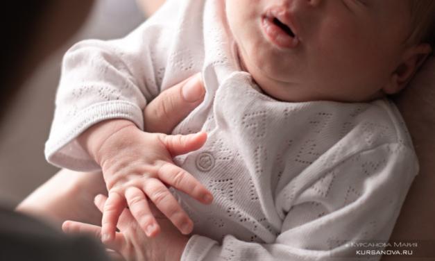 Фотосессия новорожденного малыша Анжелы и Юрия