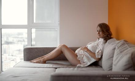Фотосессия беременности в домашней обстановке
