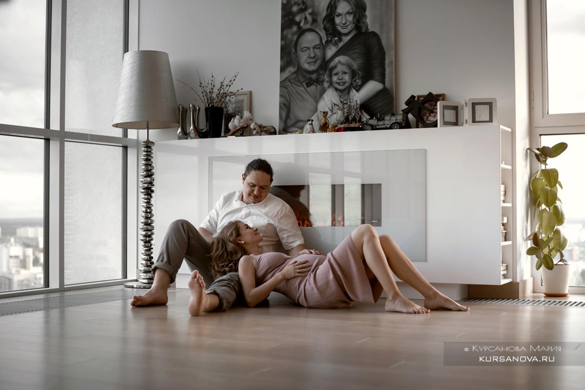 Фотосессия с мужем дома беременность