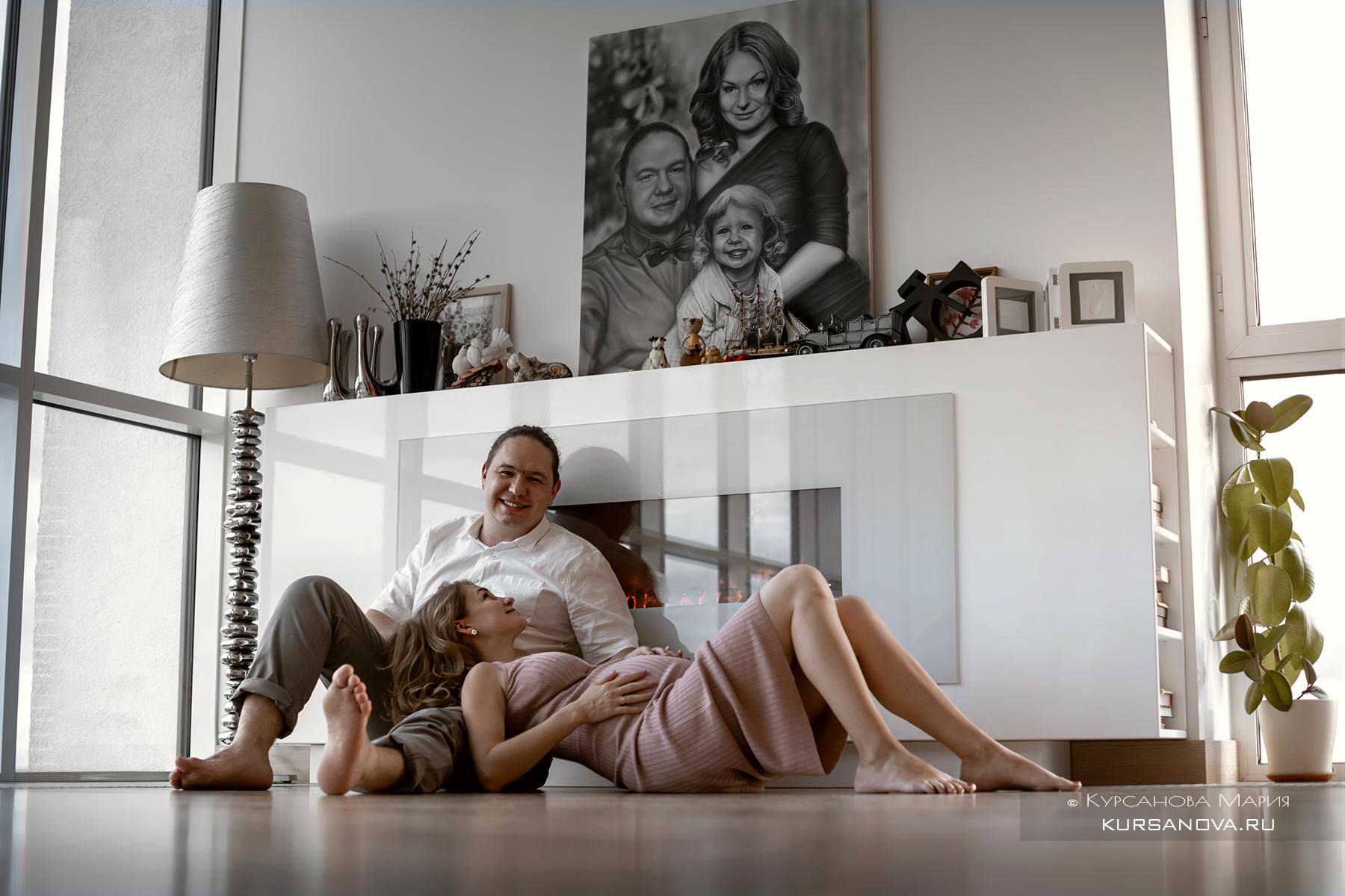 Фотосессия, беременности с мужем