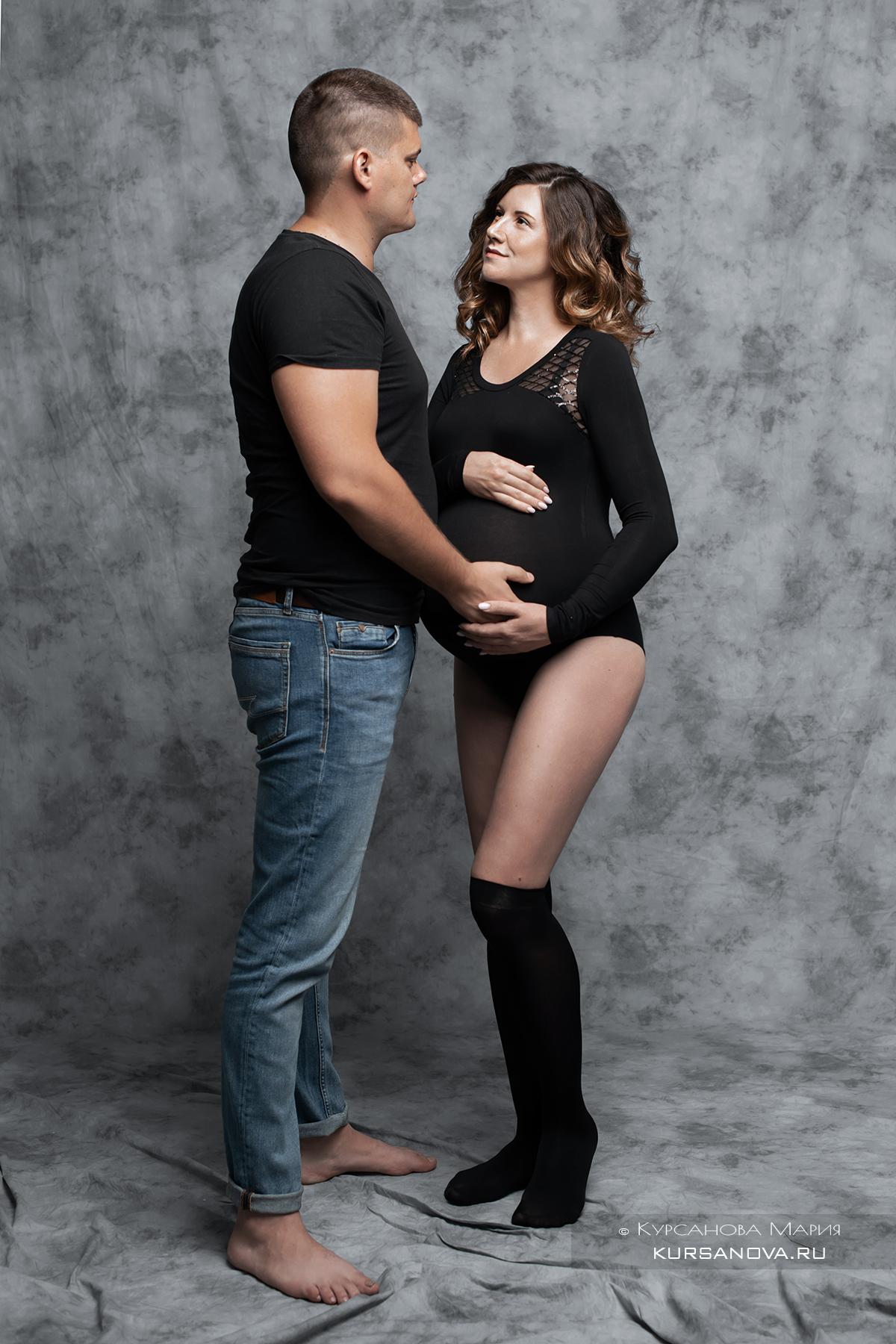 Фотосессия беременных с мужем.