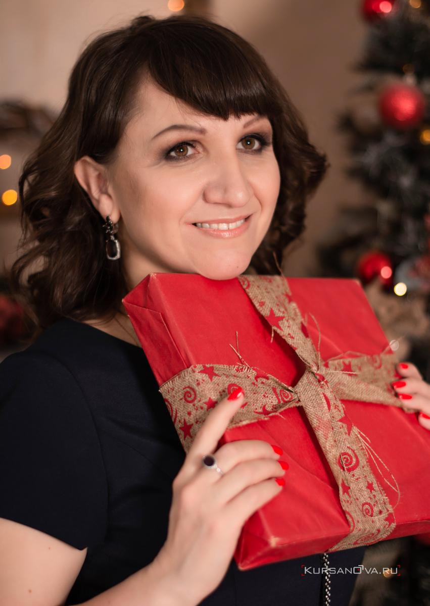 Индивидуальная фотосессия в студии для девушки подарок на новый год